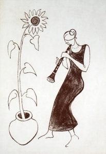 Clarinet and Sunflower